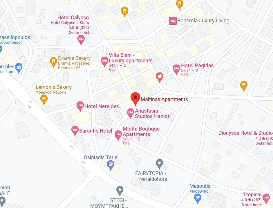 Maltinas Apartments google map